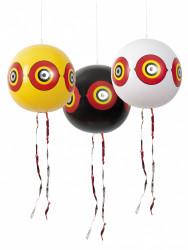 Lot de 3 ballons effaroucheurs diam . 40cm jaune/blanc/noir