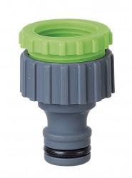 Nez de robinet fil.F  1/2 et 3/4 avec colerette et display box