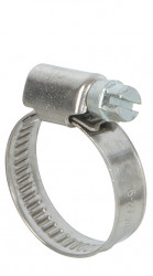 Colliers de serrage inox largeur 9mm diam.16-27mm en lot de 2