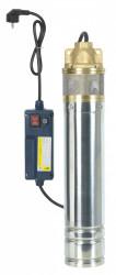 Pompe immergée inox 750w, 60m 1 turbine laiton + tableau électrique
