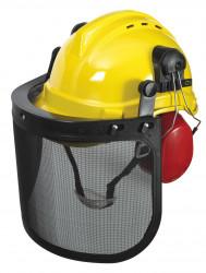 Casque de protection 3en1, casque+visière+oreillettes
